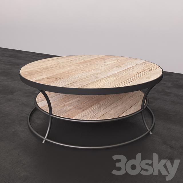 3d Models Table Pottery Barn Bartlett Reclaimed Wood Coffee Table