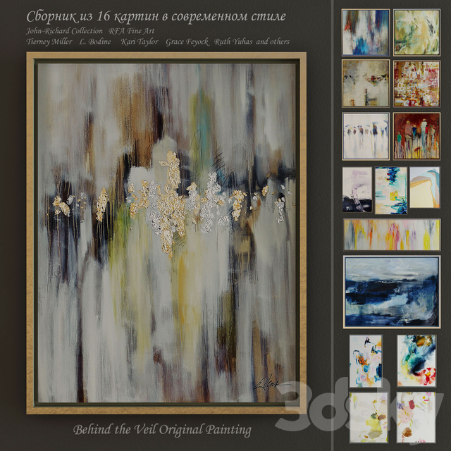The collection of contemporary paintings (set-2)