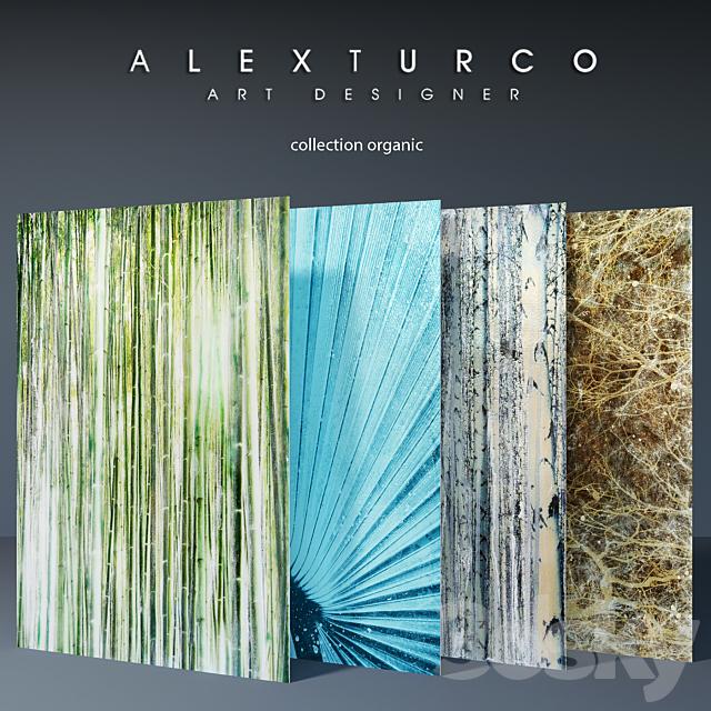 "Art-panel ""Alex Turco"" collection ""organic"""