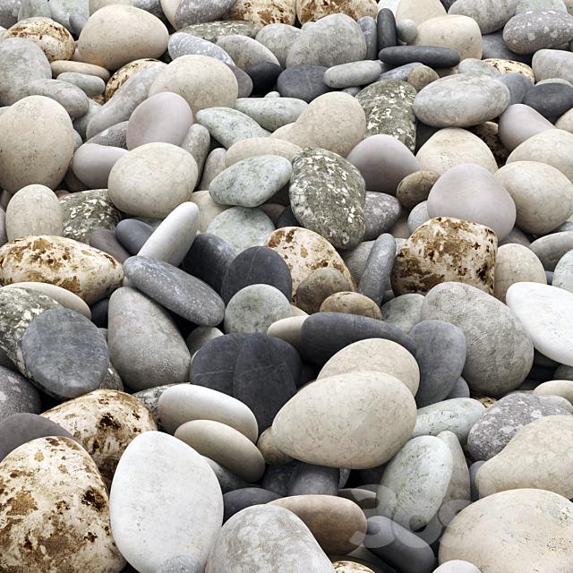 Colored pebbles road