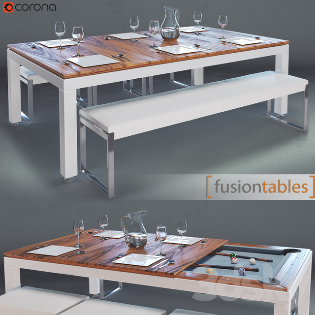 FUSIONTABLES METAL LINE Dining pools