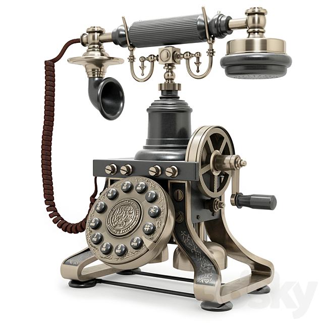 1892 Eiffel Tower Reproduction Telephone BLACK