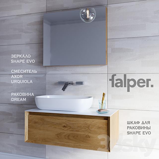 Furniture washbasin SHAPE EVO (width 930 mm) + DREAM Sink Mixer AXOR URQUIOLA