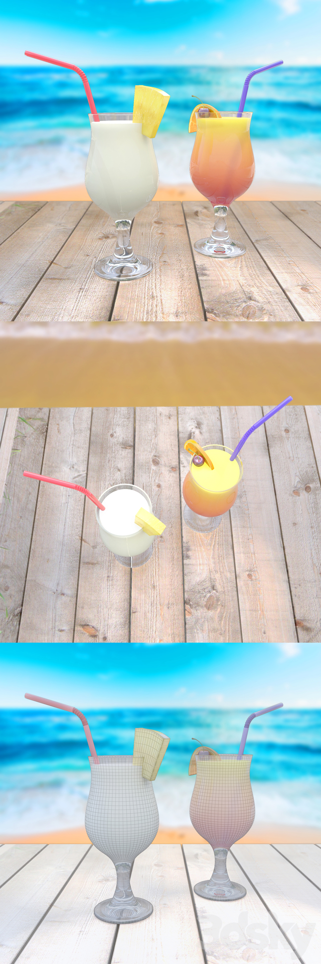 Pina Colada and Sex on the Beach (for the competition)