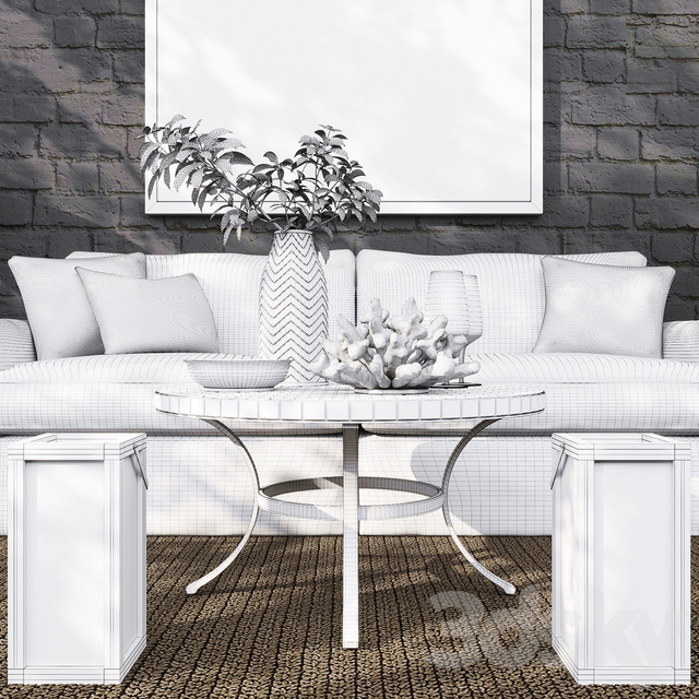 Lounge II Petite Outdoor Slipcovered Collection