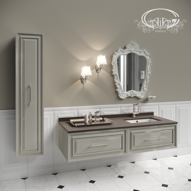 3d Models Bathroom Furniture Set Of Bathroom Furniture Gaia 1