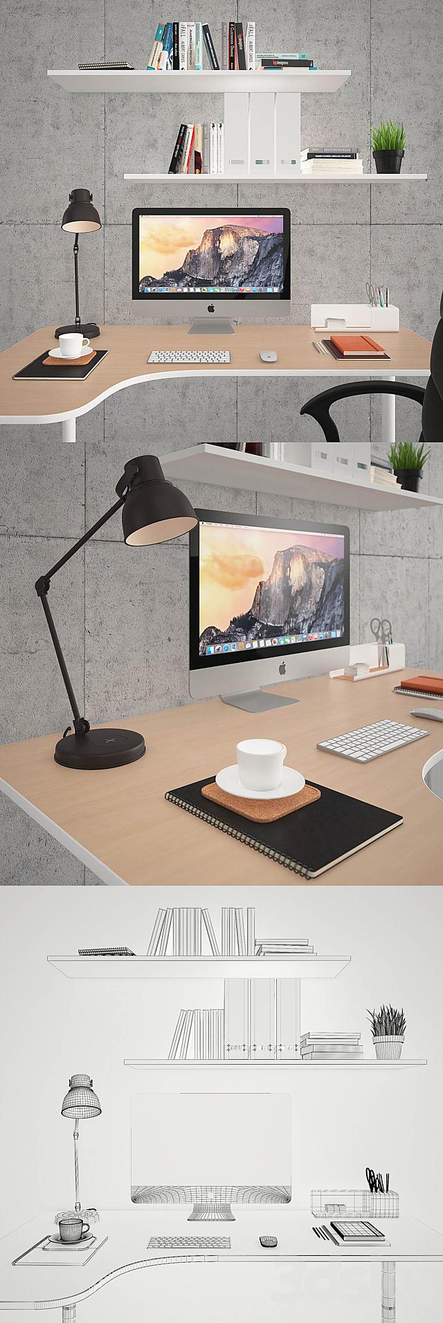 Renberget and Bekant Desk