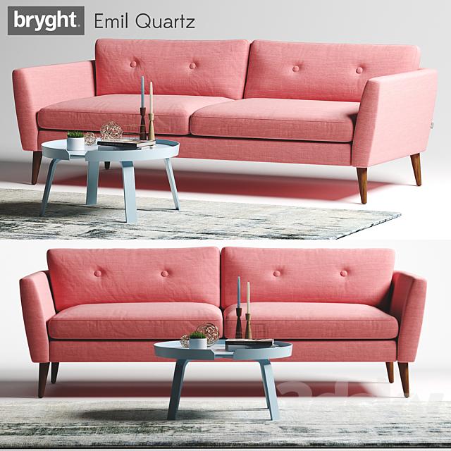 7d models: Sofa - Article Bryght Emil Quartz Sofa
