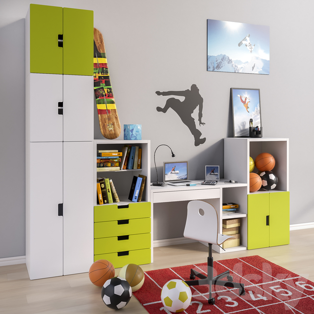 Modular furniture and accessories for a children's room IKEA set 2
