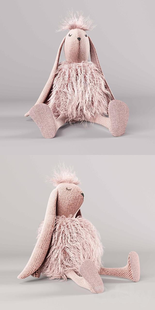 Wooly plush bunny