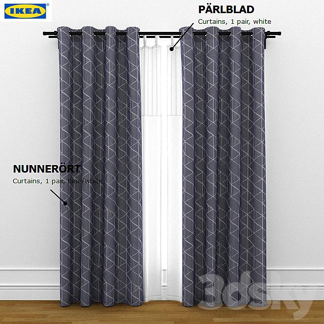 ikea curtain nunnerort and parlblad