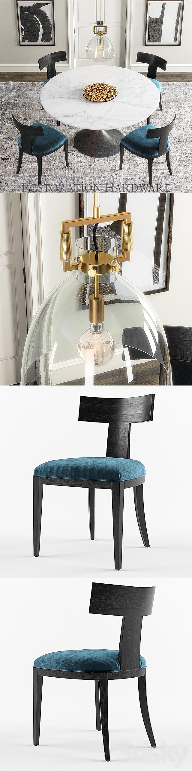 3d models: Table + Chair - RH set