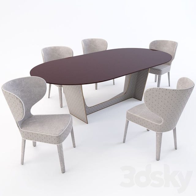 Wings table and Aida chair from Nella Vetrina