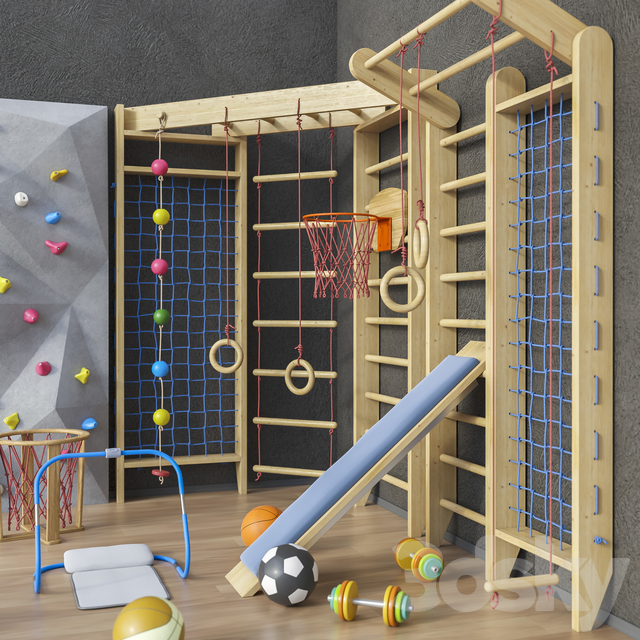 Sports furniture and equipment set 1