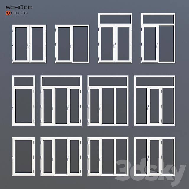 Aluminum windows Schuco