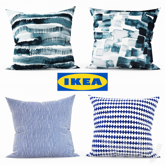 3d Models Pillows Ikea Decorative Pillows Set