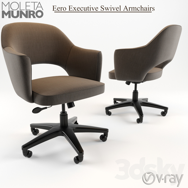 Eero Saarinen Executive Swivel Armchairs
