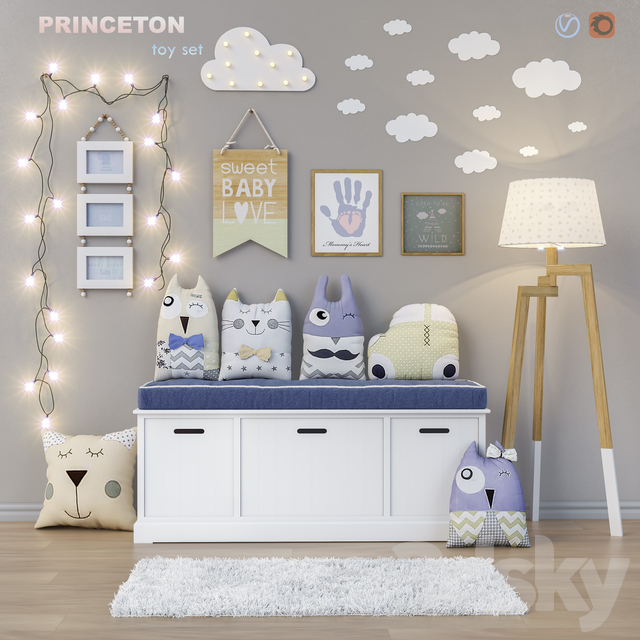 Toys and daybed PRINCETON set 15