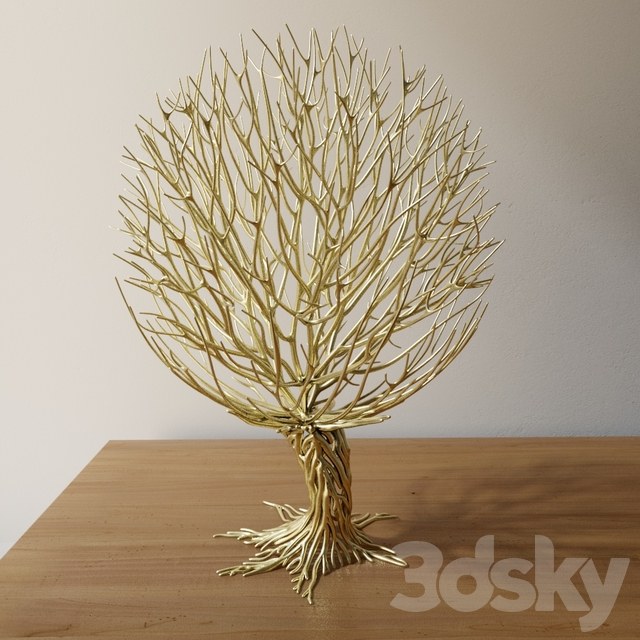 spherical tree sculpture