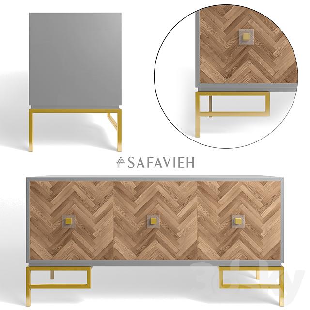 3d Models Sideboard Chest Of Drawer Sanford 3 Door Walnut Sideboard