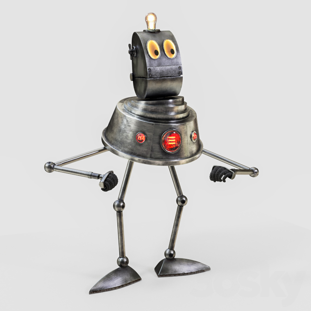 Robot from the planet of the rustle