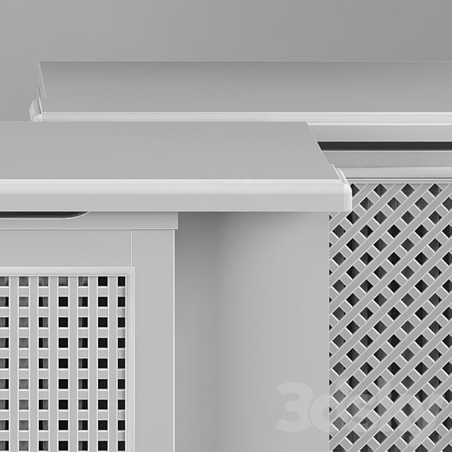 Set of radiator grilles