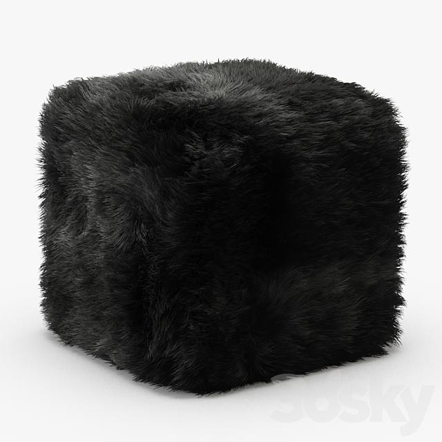 Pure Sheepskin Luxury Foot Stool