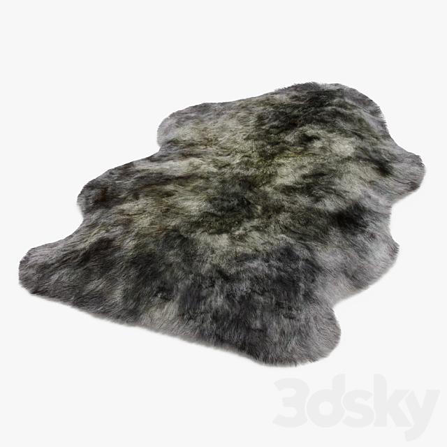 Luxe mist gray sheepskin rug