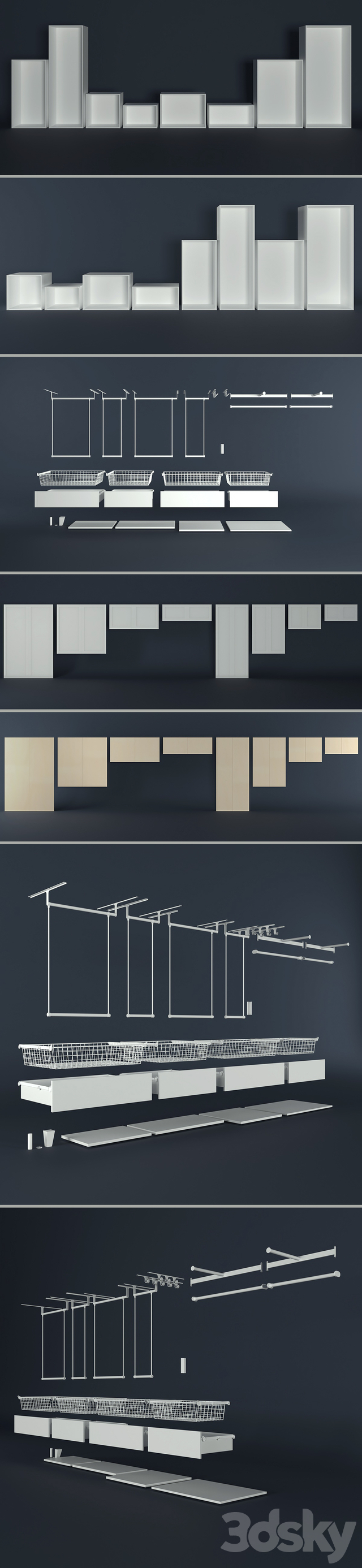 The modular system of Platsa Ikea (designer).