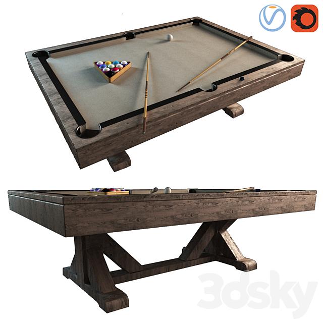 Pottery Barn Charleston Pool Table