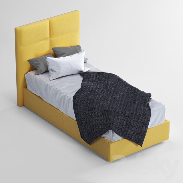 Single bed Yellow Sabine