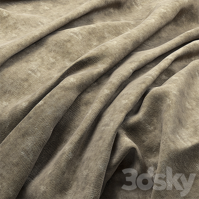 A collection of suede fabrics.