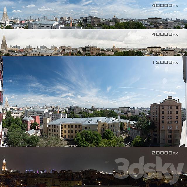 Panoramas of Moscow from the region of Khamovniki. 4 photos
