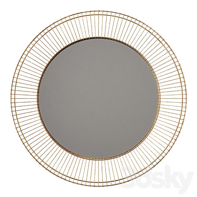 Uttermost bricius rust bronze and gold round metal mirror
