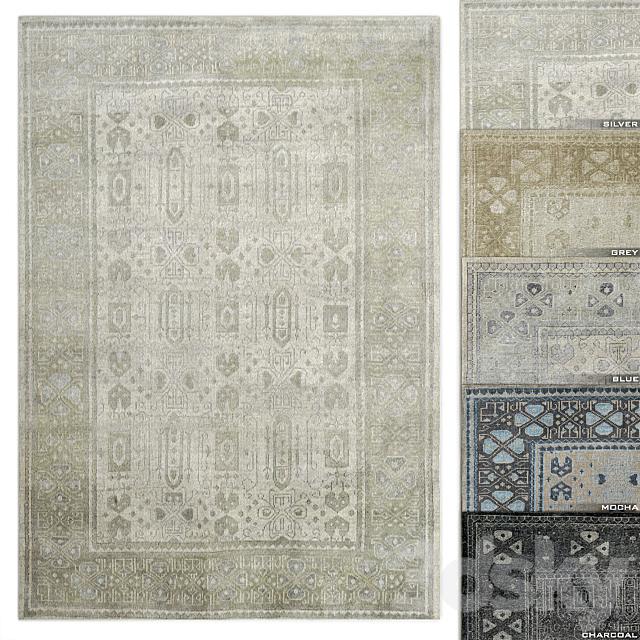 3d models: Carpets - Mariposa Rug RH