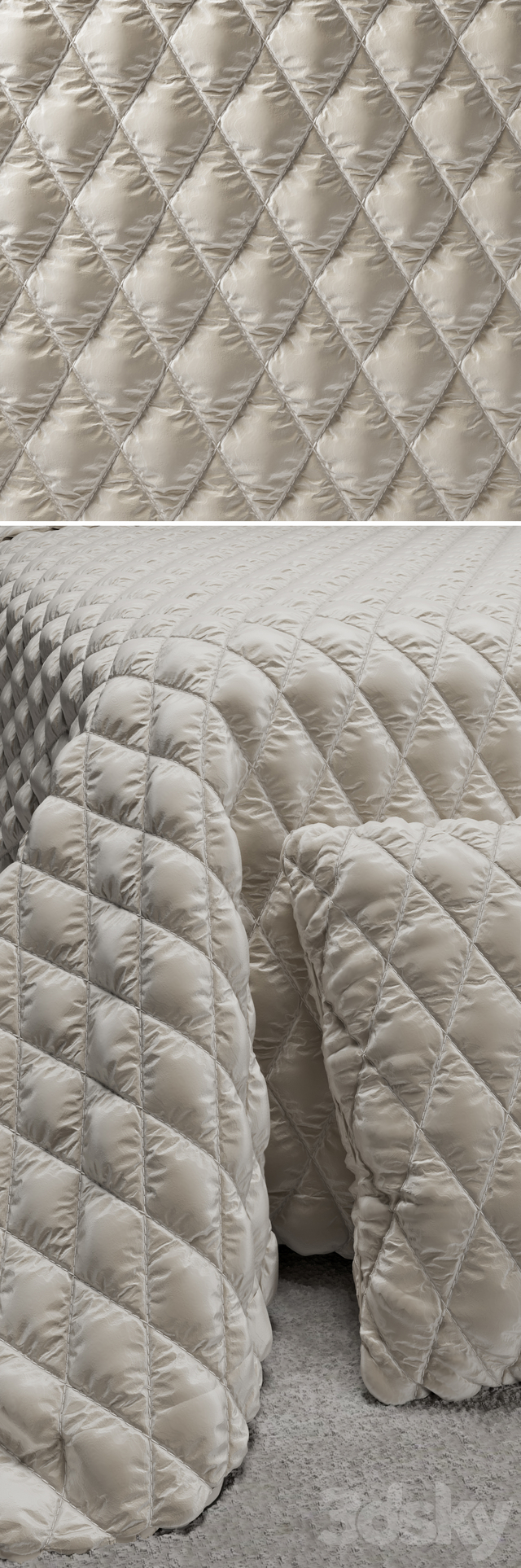 Material Quilted bedspread