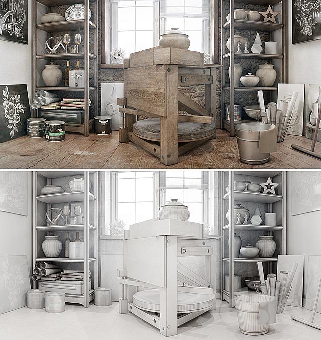 Potter's workshop \ Creative studio.