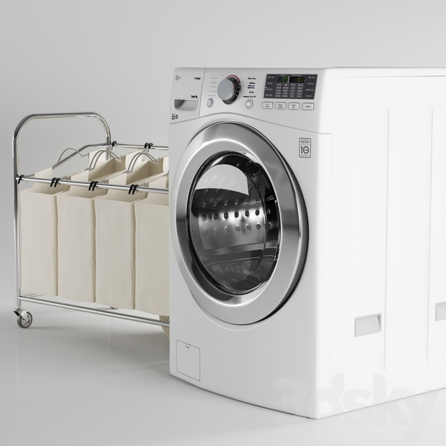LG Washer in White WM3770HW