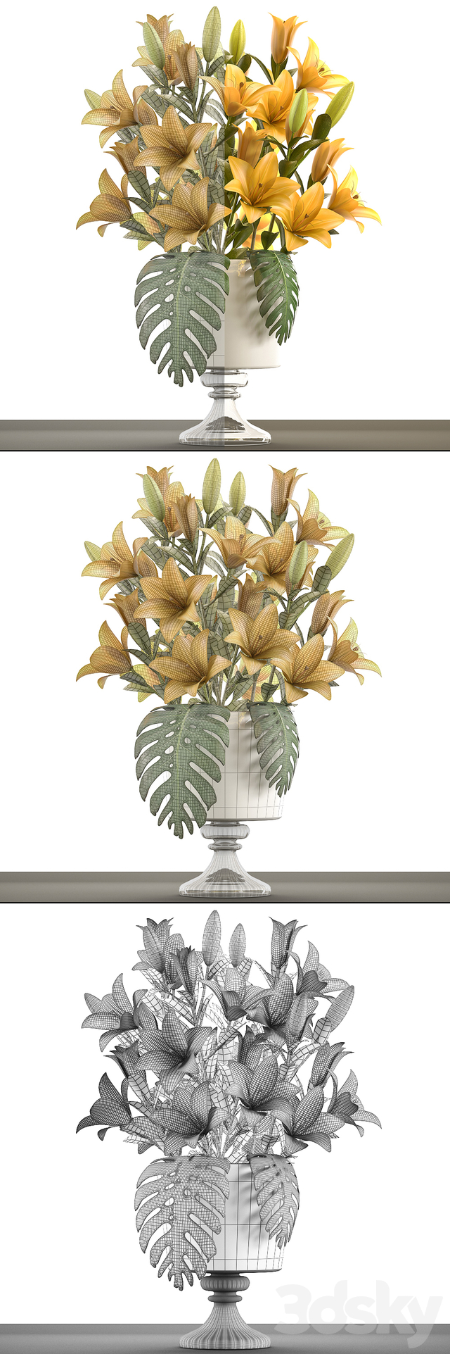 Collection of flowers 50. Bouquet of lilies.