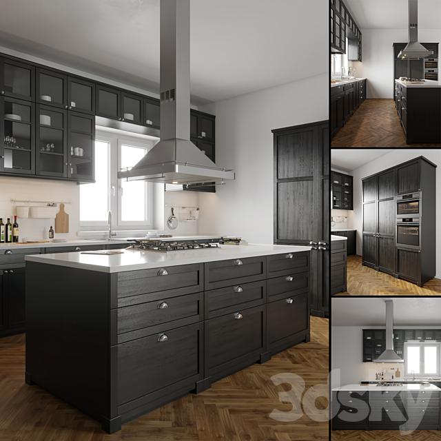 3d models: Kitchen - IKEA LERHYTTAN