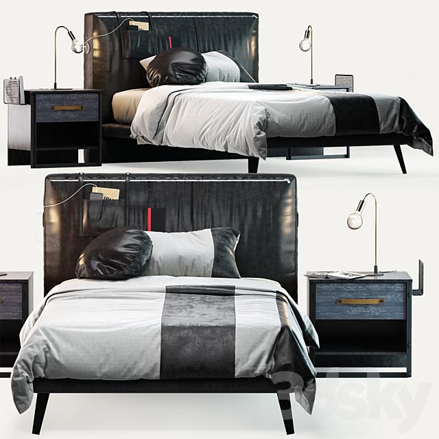 Cilek Dark Metal Bed