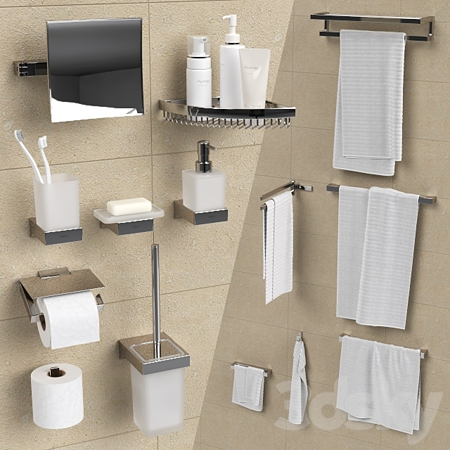 Bathroom accessories Grohe Selection Cube.