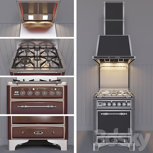 Kitchen appliances in retro style.