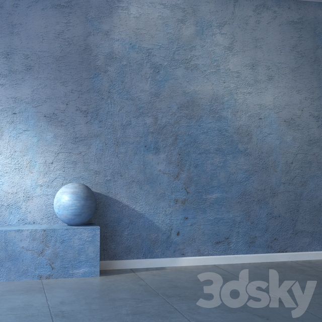 Stucco blue 16