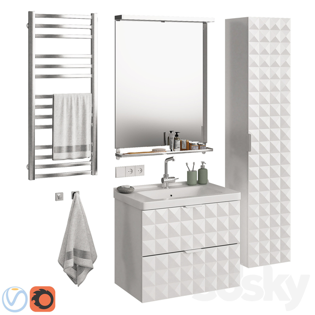 Bathroom Furniture Ikea Morgon Set 4