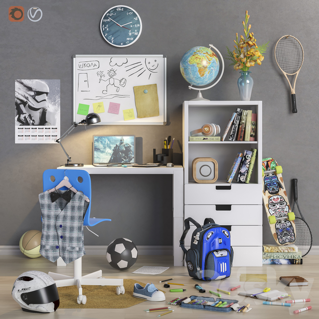 "Furniture and accessories for the children's room ""Back to School"""
