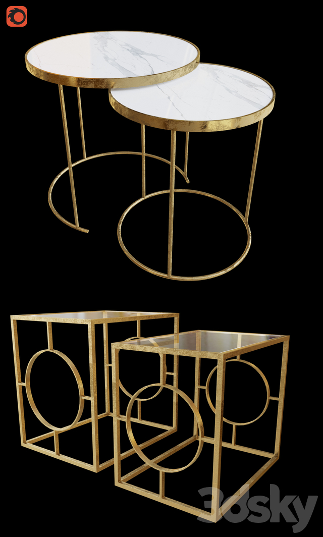 3d Models Table A Set Of Coffee Tables Zara Home