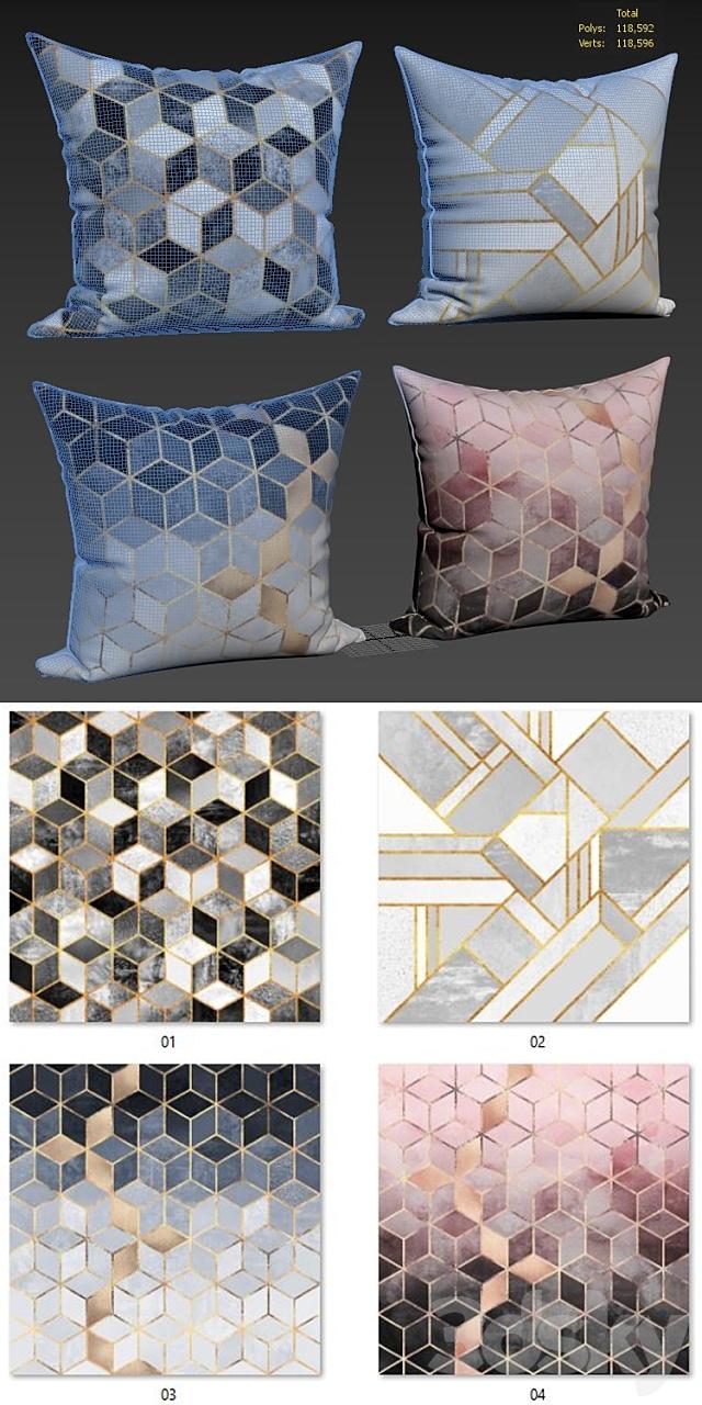 Decorative pillows set 142