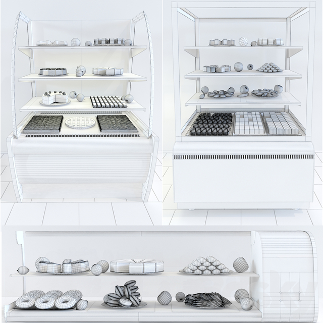 Refrigerated display cases Carboma