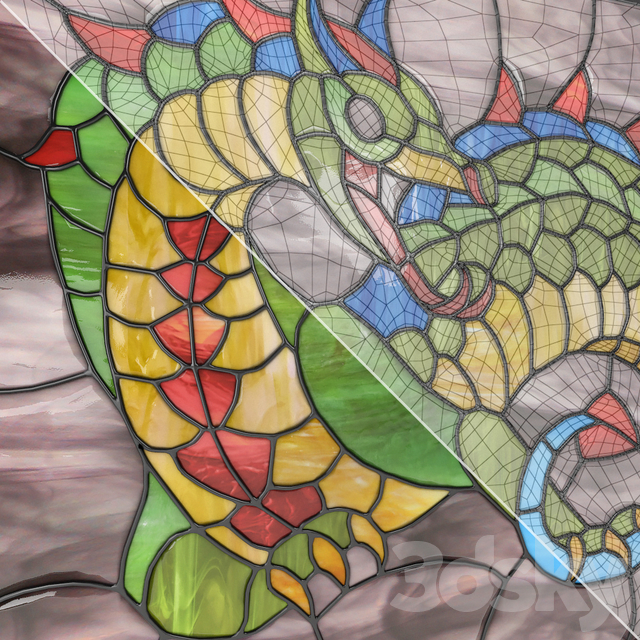 """Stained Glass """"Dragon"""" 09_kl"""